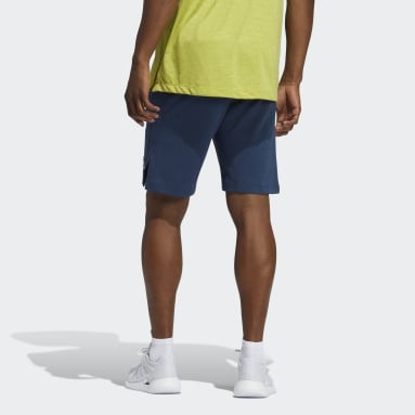 Men's Yoga Blue AEROREADY 3-Stripes Flow Primeblue Shorts
