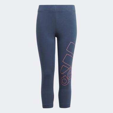 Meisjes Sportswear Blauw adidas Essentials Logo 7/8 Legging
