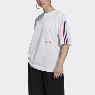 Adicolor Tricolor Oversize Tee Bialy