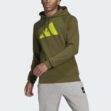 Men Sportswear Green adidas Sportswear Badge of Sport Hoodie