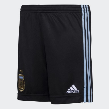 Shorts Titular Argentina (UNISEX) Negro Niño Fútbol