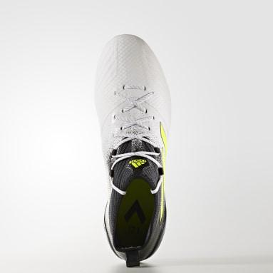 Calzado de fútbol ACE 17.1 césped natural seco Blanco Hombre Fútbol