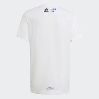 T-shirt Aaron Kai blanc Adolescents Entraînement