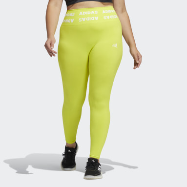 Women Gym & Training Yellow Training Aeroknit 7/8 High-Rise Tights (Plus Size)
