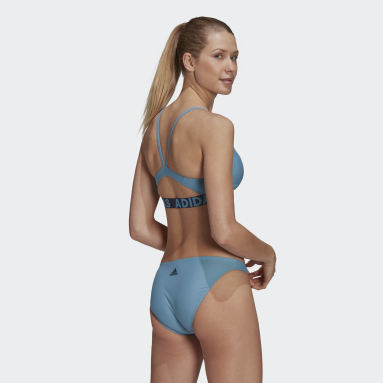 Women Swimming Blue Beach Bikini