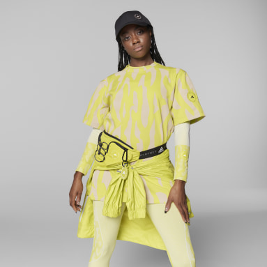 Women's adidas by Stella McCartney Yellow adidas by Stella McCartney Future Playground Tee
