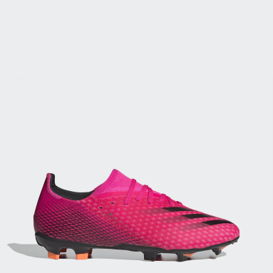 Men Football Pink X Ghosted.3 Firm Ground Boots