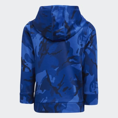 Youth Training Blue CORE CAMO HOODED PLLOVR