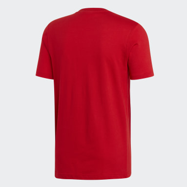T-shirt Trefoil Rouge Hommes Originals