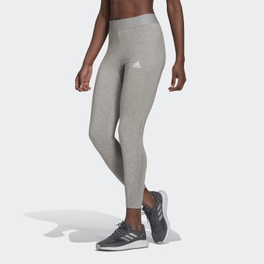 Women Gym & Training Grey AEROREADY Designed 2 Move Cotton Touch 7/8 Tights