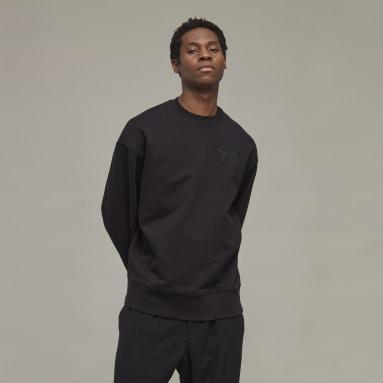 Men's Y-3 Black Y-3 Classic Chest Logo Crew Sweatshirt