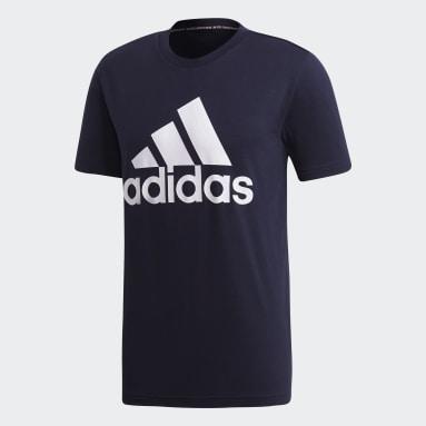 Men Sportswear Blue Must Haves Badge of Sport Tee