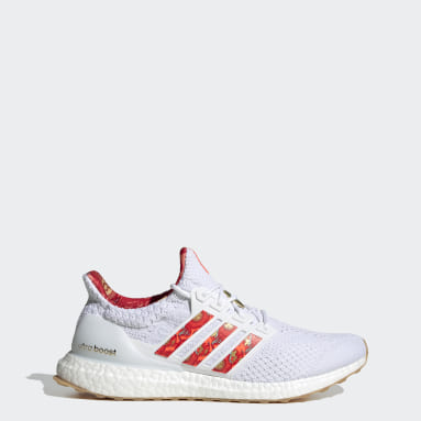 Men Running White Ultraboost 5.0 DNA Shoes