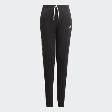Pants adidas Essentials French Terry 3 Franjas Negro Niña Training