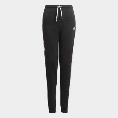 Dievčatá Sportswear čierna Tepláky adidas Essentials 3-Stripes French Terry