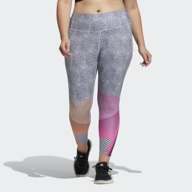 Women's Training Black adidas x Peloton 7/8 Length HEAT.RDY Tights (Plus Size)