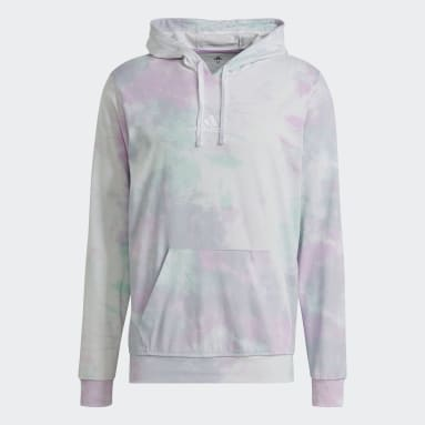 Muži Sportswear tyrkysová Mikina skapucňou Essentials Tie-Dyed Inspirational