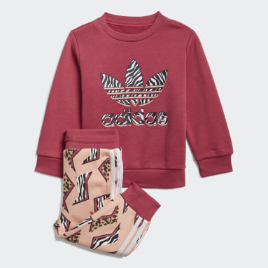 Infant & Toddler Originals Pink Graphic Print Crew Set