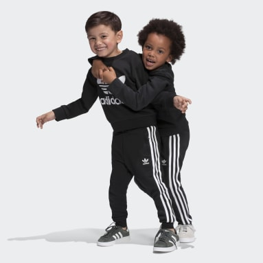 Completo Crew Sweatshirt Nero Bambini Originals