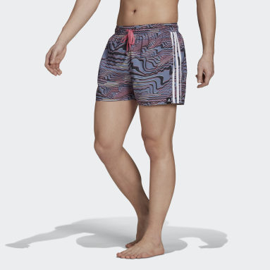 Very-Short-Length Watersword Graphic Swim Shorts Fioletowy