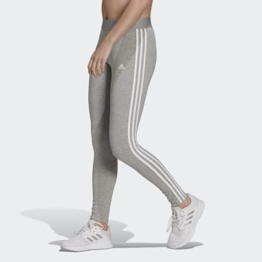Women Sportswear Grey LOUNGEWEAR Essentials 3-Stripes Leggings