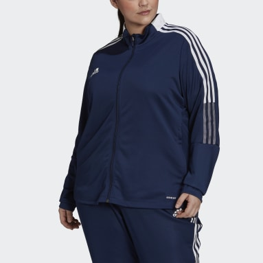 Women's Soccer Blue Tiro Track Jacket (Plus Size)