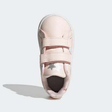 Kids Tennis Pink Grand Court Shoes