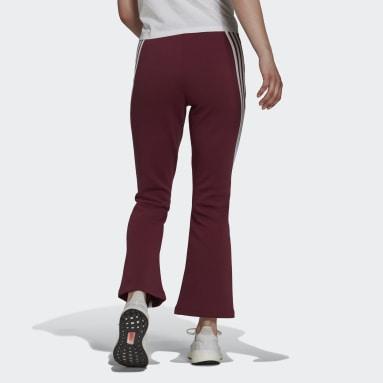 adidas Sportswear Future Icons 3-Stripes Flare Pants Czerwony