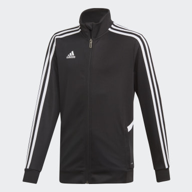 Deti Tréning A Fitnes čierna Tepláková bunda Tiro