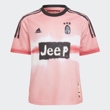 Kids Football Pink Juventus Human Race Jersey