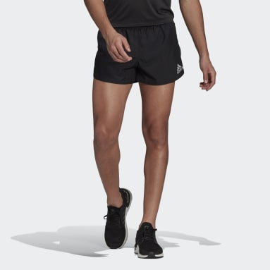 Men Running Black adidas Fast Split Shorts