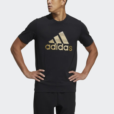 Men Sportswear Black FI Shiny Badge of Sport Tee