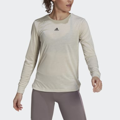 Women's Essentials Brown adidas x Zoe Saldana AEROREADY Long Sleeve Tee