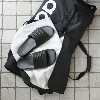 Zwemmen zwart adilette Cloudfoam Plus Mono Badslippers