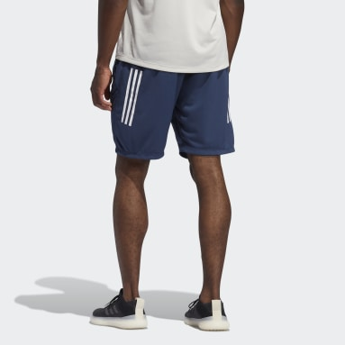 Men Training Blue 3-Stripes 9-Inch Shorts
