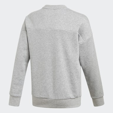 Sweat-shirt Must Haves Crew Gris Filles Fitness Et Training