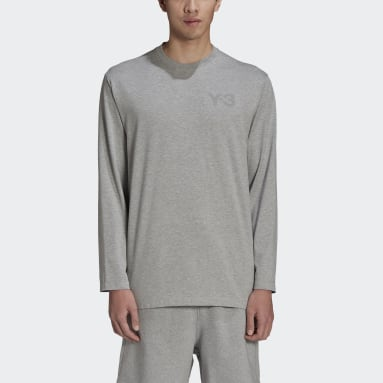 Men Y-3 Grey Y-3 CL Logo Tee