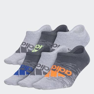Children Training Grey Superlite Badge of Sport No-Show Socks 6 Pairs