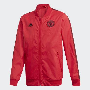 Kluci Fotbal červená MUFC ANTH JKT Y