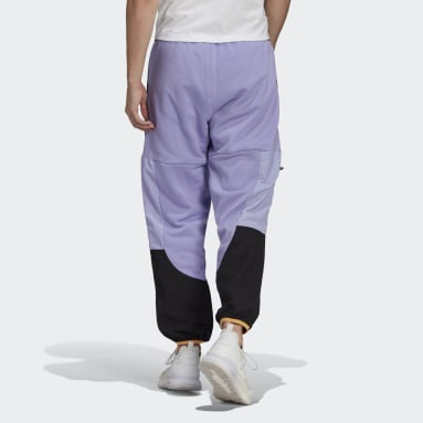 Heren Originals Paars adidas Adventure Colorblock Mixed Material Joggingbroek