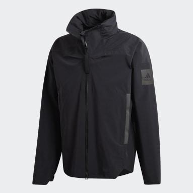 Men Cycling Black MYSHELTER Rain Jacket