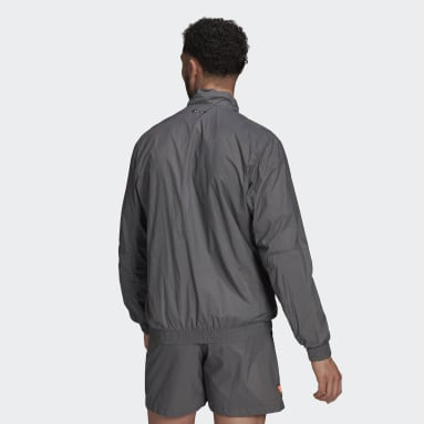 Men's Sportswear Grey adidas Sportswear Grid Pattern Woven Track Top