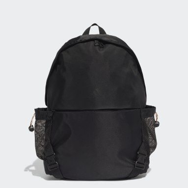 Women Studio Black Backpack with Straps for Yoga Mat