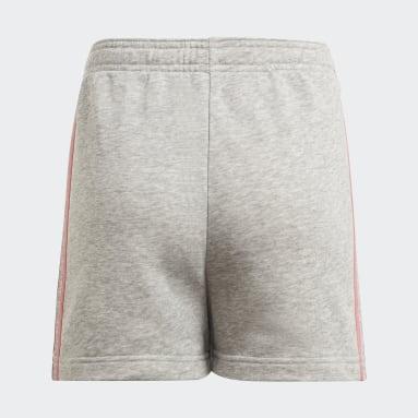 Pantalón corto adidas Essentials 3 bandas Gris Niña Sportswear