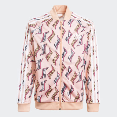 Girls Originals Pink Allover Print SST træningsjakke