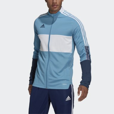 Men Soccer Blue Tiro Track Jacket