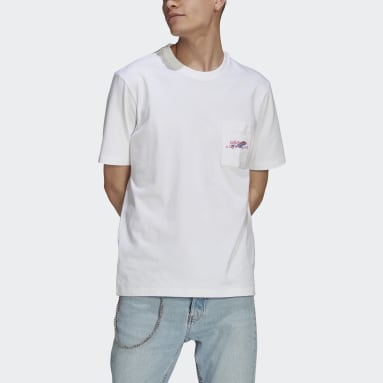 Heren Originals Wit adidas Adventure Pocket Logo T-shirt