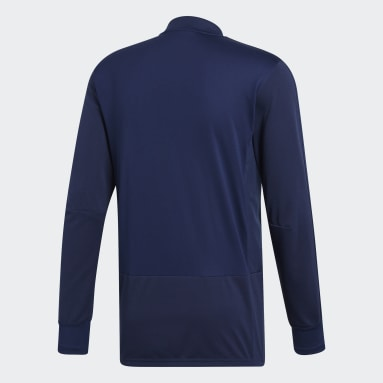 Heren Fitness En Training Blauw Condivo 18 Player Focus Training Longsleeve