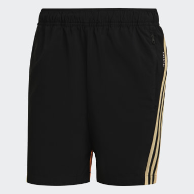 Heren Sportswear Zwart adidas Sportswear Geweven 3-Stripes Short