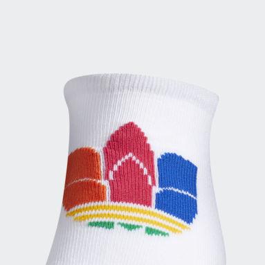 Women's Originals Multicolor 3D Trefoil No-Show Socks 3 Pairs